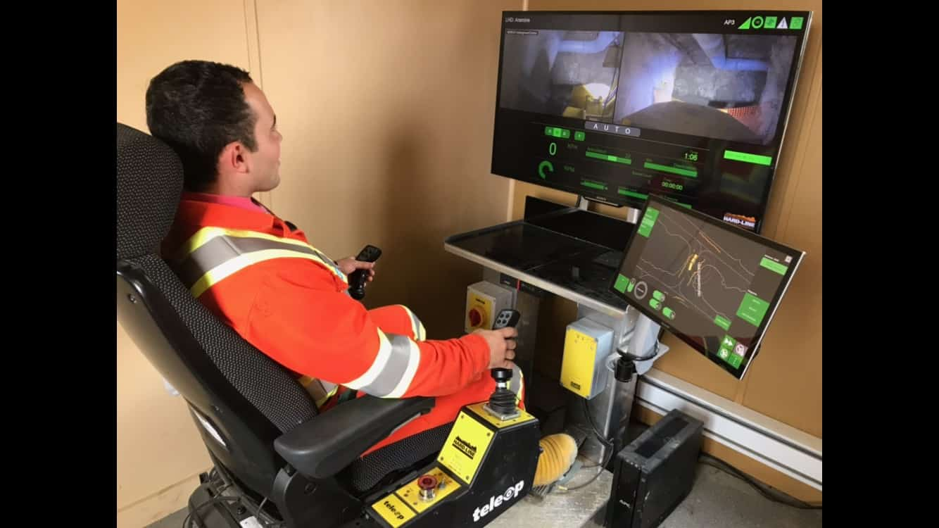 Teleop Chair In Operation, Automation System For Mining