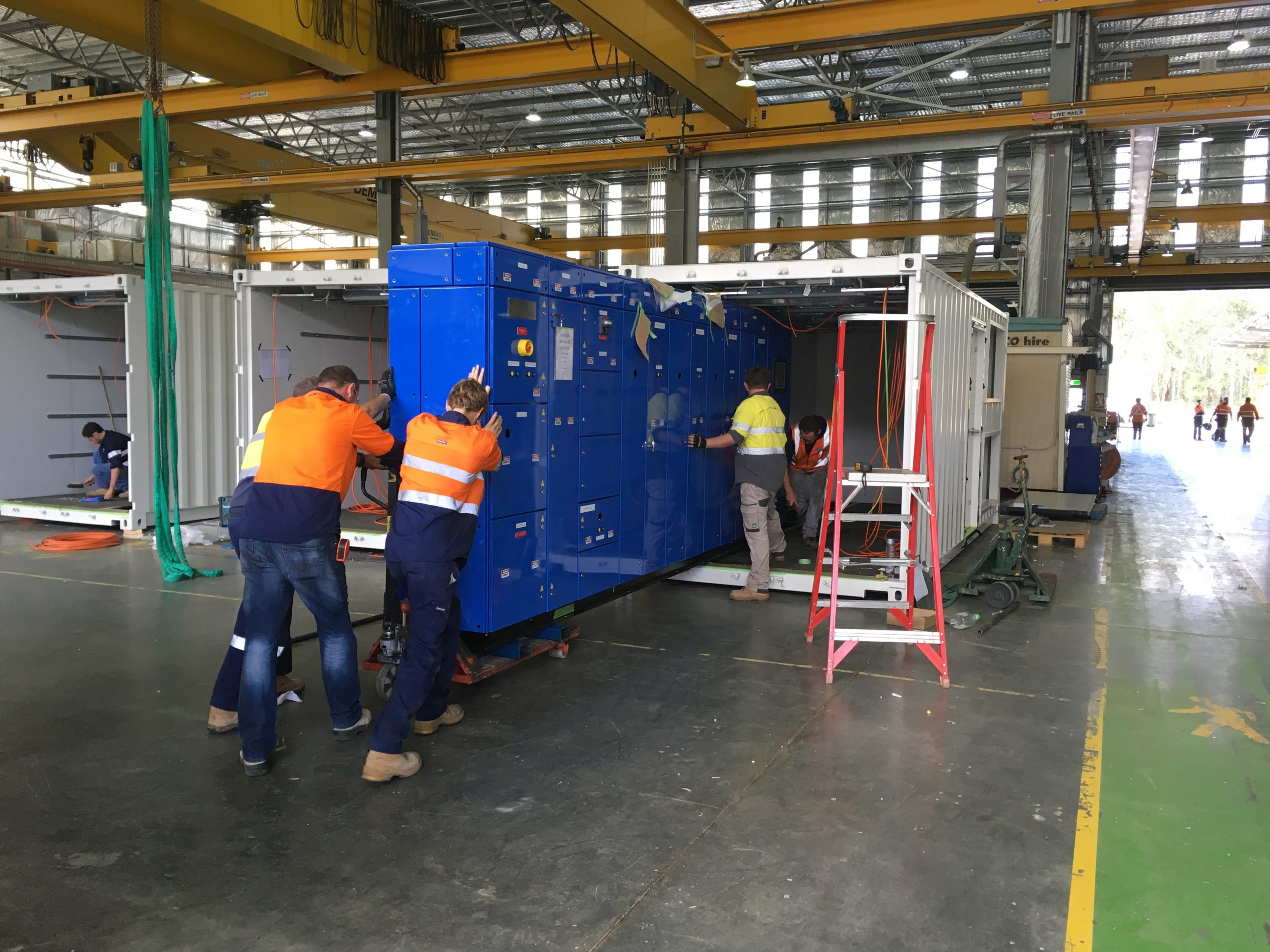 Mechaical Installation – Degrussa Installing MCC into Container
