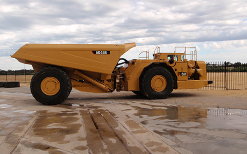 CAT AD45B available to hire or buy through Murray Engineering. Suitable for underground or open pit mining