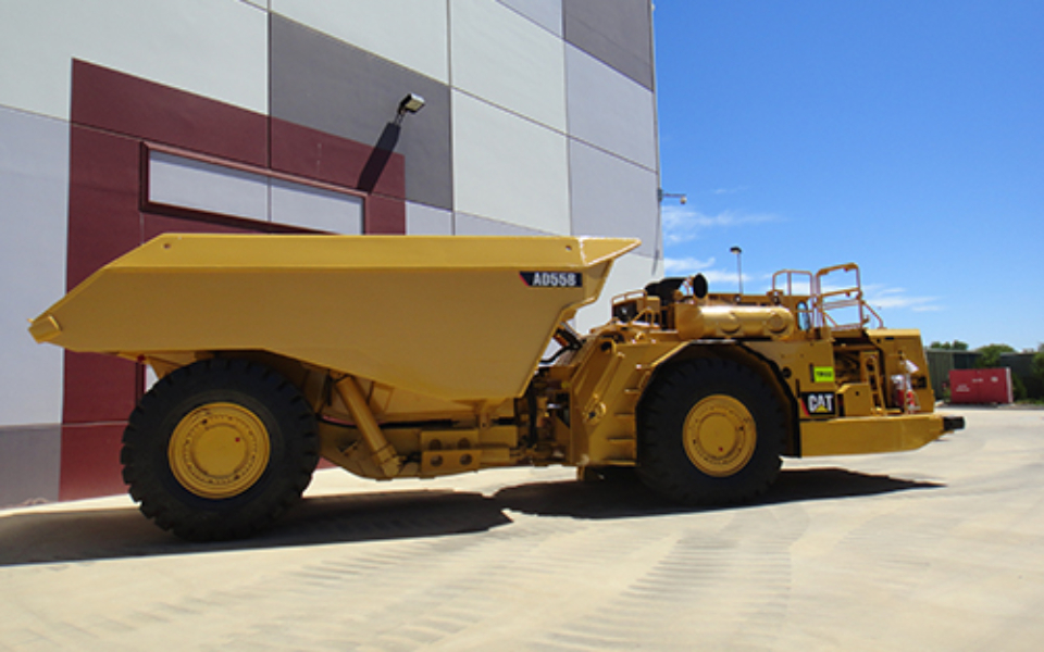 CAT AD55B available to hire or buy through Murray Engineering. Suitable for underground or open pit mining