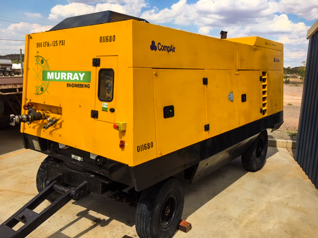 CompAir Air Compressor for hire- can be used in underground or open cut mining, available for hire or to purchase through Murray Engineering.
