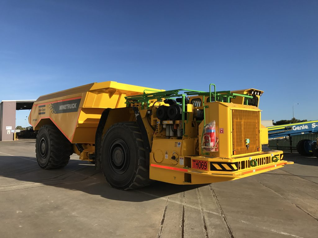 Atlas Copco MT6020 hire machine for underground or open cut mining, available for hire or to purchase through Murray Engineering.
