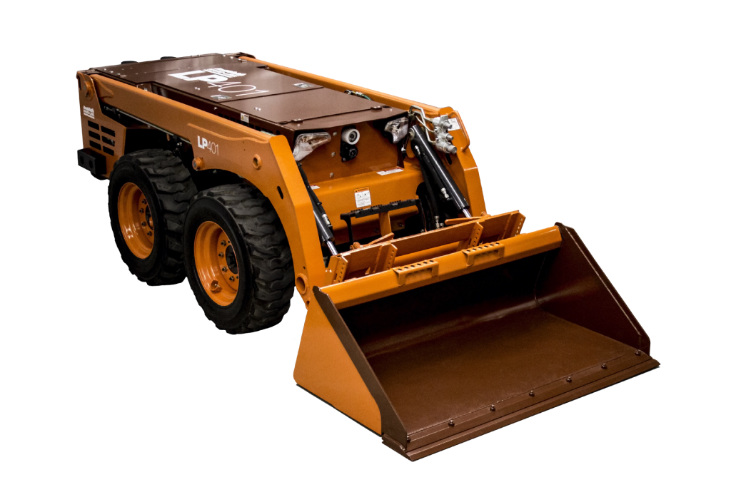 LP401 Low Profile Loader available to hire or buy through Murray Engineering. Remote controlled and useable in a variety of restrictive areas where humans should not go.