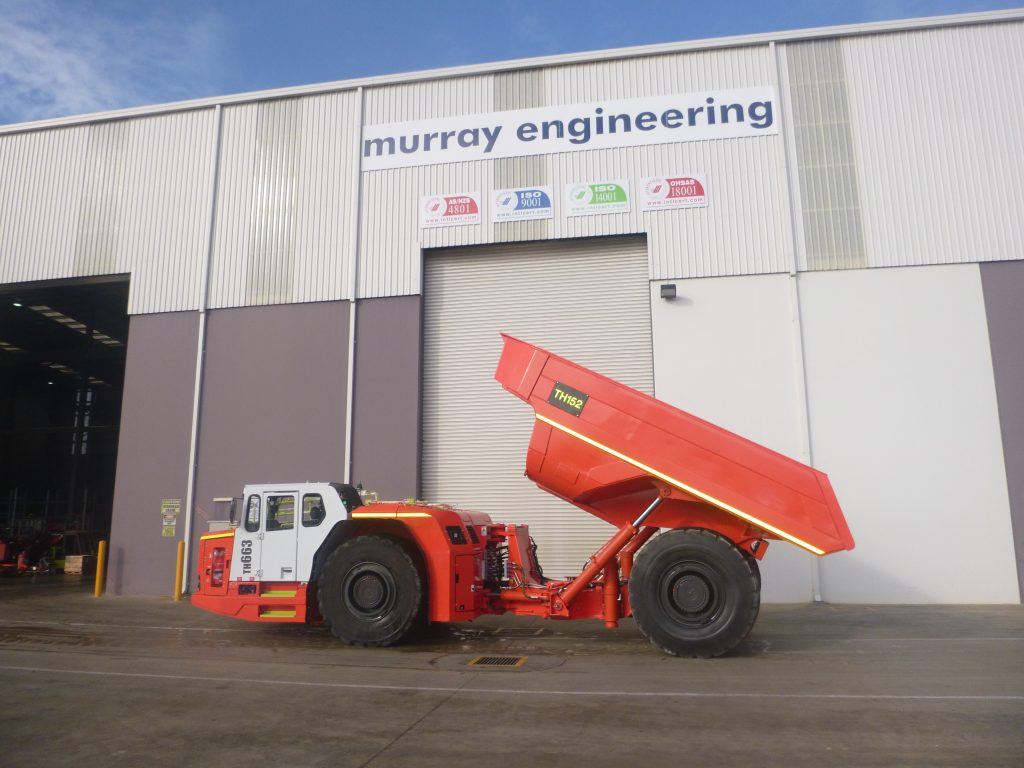 Sandvik TH663 Dump Truck available for hire through Murray Engineering for underground or open pit mining.