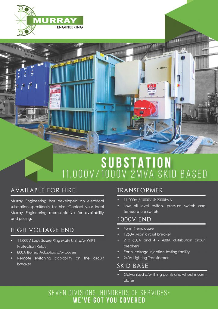 Murray Engineering Substation For Hire Flyer