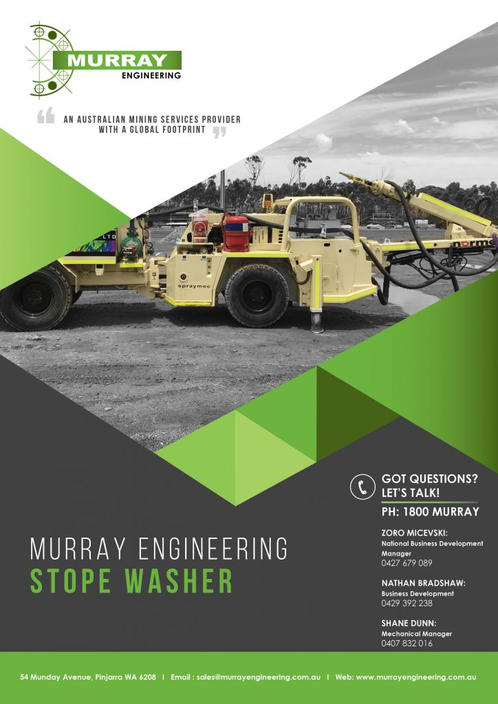 Murray Engineering Stope Washer 2020 Brochure_Page 1