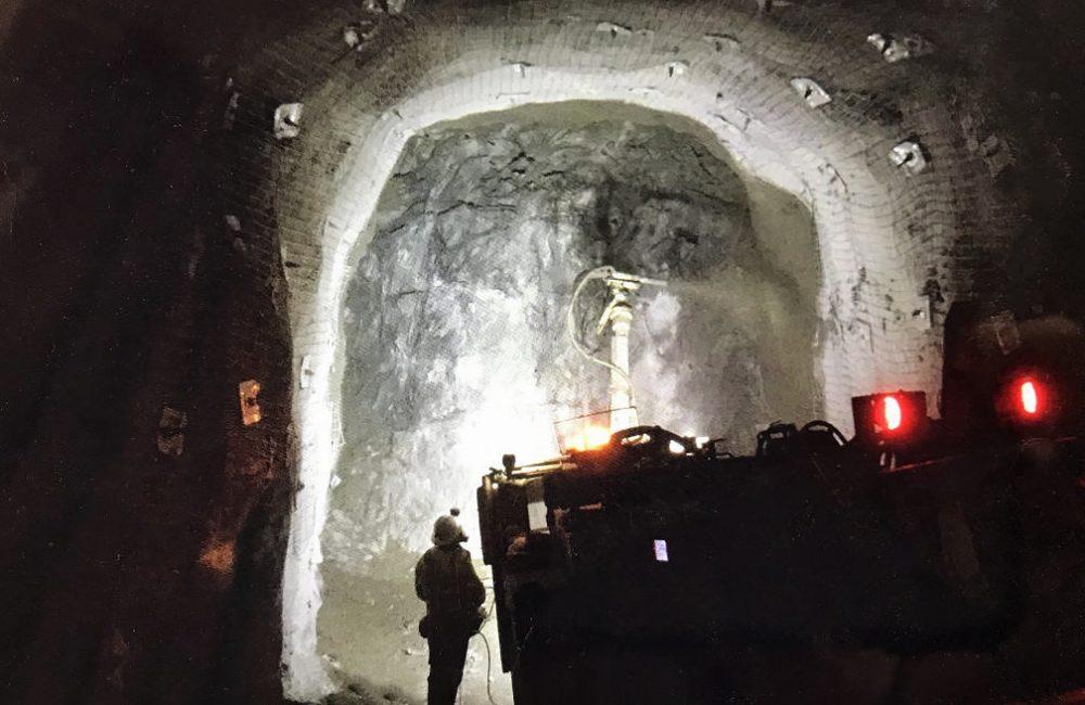Shotcrete application at an underground mine